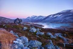 Lake at Gamle Strynefjellsvegen, National tourist road, Norway Royalty Free Stock Photo