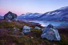 Lake at Gamle Strynefjellsvegen, National tourist road, Norway Stock Image