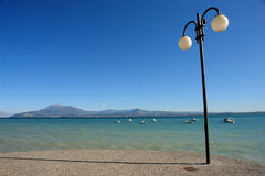 The Lake of Garda. A sunny day on The Lake of Garda (Italy Royalty Free Stock Photography