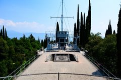 Lake Garda battleship. Lake Garda Italy royalty free stock images