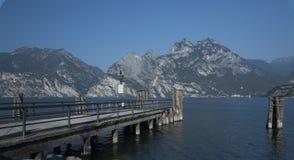 Lake Garda, the boats headed to Lemon. Royalty Free Stock Photo