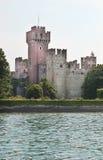 Lake Garda - castle of Lazise stock image