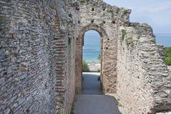Lake Garda - Catull grottos Stock Image