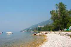 Lake Garda Coast. In Italy Royalty Free Stock Image