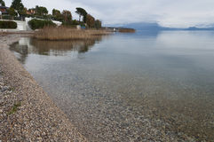 Lake Garda coastline during winter Royalty Free Stock Image