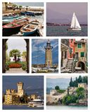 Lake Garda collage Royalty Free Stock Photography