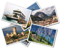Lake Garda Collage Royalty Free Stock Images