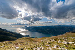 Lake Garda With Dolomites Stock Image