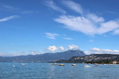 Lake Garda from footpath Bardolino to Cisano Italy Royalty Free Stock Images