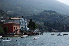 Lake Garda. A hotel in Lake Garda Royalty Free Stock Photography