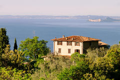 Lake Garda house Stock Photography