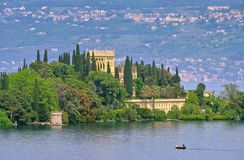 Lake Garda island Royalty Free Stock Photo