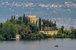 Lake Garda island Stock Image