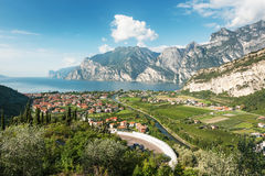 Lake Garda, Italy. Panoramic view for Lake Garda, Italy Royalty Free Stock Images