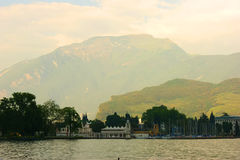 Lake Garda in Italy. Big Lake Garda in Italy Royalty Free Stock Photography