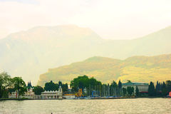 Lake Garda in Italy. Big Lake Garda in Italy Royalty Free Stock Photo