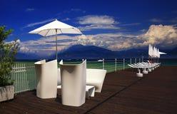 Lake Garda, Italy. From pier stock photography