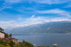 Lake Garda is the largest lake in Italy. Stock Photos