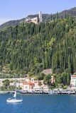 Lake Garda, the largest lake in Italy, situated on the edge of the Dolomites, Italy. GARDA, ITALY - SEPTEMBER 30, 2018: Lake Garda, the largest lake in Italy royalty free stock photo