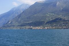 Lake Garda, the largest lake in Italy, situated on the edge of the Dolomites, Italy. Lake Garda, the largest lake in Italy, situated on the edge of the stock photography