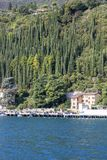 Lake Garda, the largest lake in Italy, situated on the edge of t. GARDA, ITALY - SEPTEMBER 30, 2018: Lake Garda, the largest lake in Italy, situated on the edge stock photo