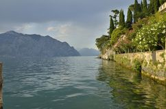 The Lake Garda in Malcecine Royalty Free Stock Photo