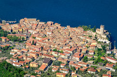 Lake Garda, Malcesine aerial view Royalty Free Stock Image