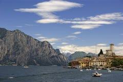 Lake Garda. Malcesine on the eastern shore of Lake Garda, Italy Royalty Free Stock Image