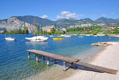 Lake Garda,Malcesine,Italy Stock Photos
