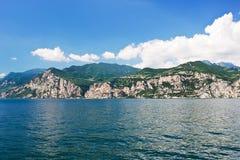 Lake Garda from Malcesine town, Italy Stock Photo