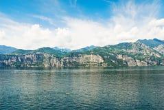 Lake Garda from Malcesine village, Italy Stock Photography