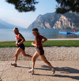 Lake Garda Marathon 2008. Group of runners at the Lake Garda Marathon 2008 Lake Garda - Italy 28th September 2008 royalty free stock photography