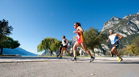 Lake Garda Marathon 2011 Royalty Free Stock Images