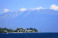 Lake Garda and Monte Baldo, Italy Stock Photography