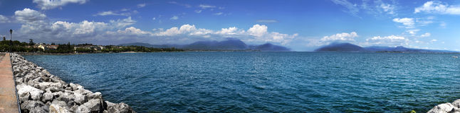 Lake Garda. A panoramic view of Lake Garda Stock Photography