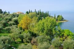 Lake Garda Punta San Vigilio Royalty Free Stock Images