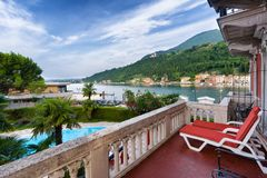 Lake Garda in Toscolano-Maderno, Italy Royalty Free Stock Photo