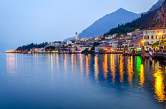Lake Garda, Town of Limone sul Garda Royalty Free Stock Photos