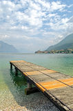 Lake Garda, Town of Malcesine Royalty Free Stock Images