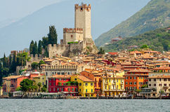 Lake Garda, Town of Malcesine Stock Photos