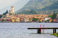Lake Garda, Town of Malcesine (Veneto, Italy) Royalty Free Stock Photo