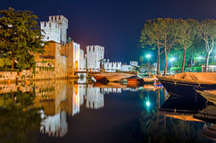 Lake Garda, Town of Sirmione Royalty Free Stock Photos