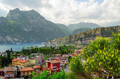 Lake Garda, Town of Torbole Royalty Free Stock Photography