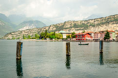 Lake Garda, Town of Torbole Royalty Free Stock Photo