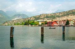 Lake Garda, Town of Torbole (Trentino, Italy) Royalty Free Stock Photo