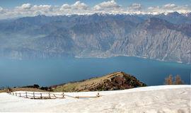 Lake Garda View from Monte Baldo, Italy Stock Images