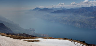 Lake Garda View from Monte Baldo, Italy Royalty Free Stock Photos