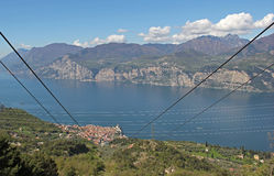 Lake Garda View from Monte Baldo, Italy Stock Image