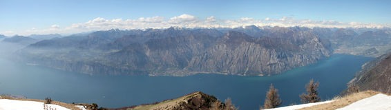 Lake Garda View from Monte Baldo, Italy Royalty Free Stock Photography