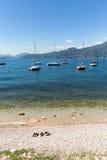 The Lake Garda in the village of Torri del Benaco in Italy Royalty Free Stock Image